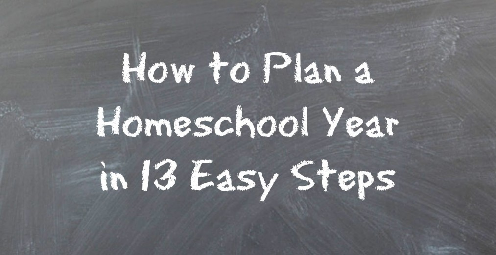 How to Plan a Homeschool Year in 13 Easy Steps