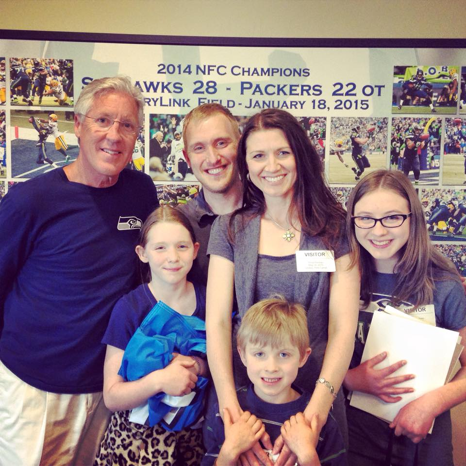 Meeting Pete Carroll Motherhood And More