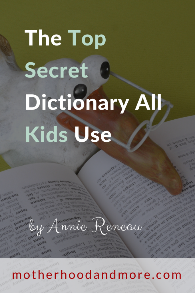 The Top Secret Dictionary All Kids Use
